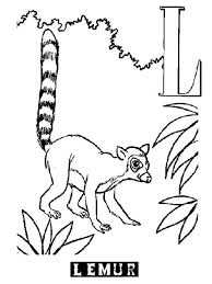 lemur coloring pages aecost net aecost net