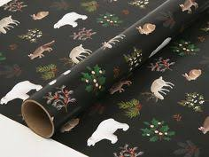 matte black wrapping paper winter sweater wrapping paper blue
