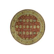 Round Burgundy Rug 12 Ft U0026 Larger