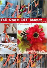 diy crafts project pretty fall banner with wood letters u0026 flowers