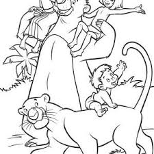 135 jungle book images jungles coloring books