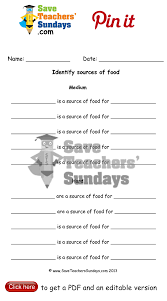 online activities on sources of food worksheet go to url to
