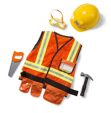construction worker costume doug construction worker play costume dress up set
