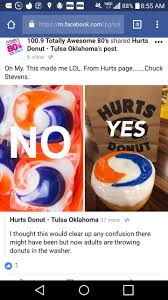 Funny Donut Meme - local donut shop is making the best of the tide pod fiasco funny