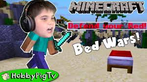 minecraft bed wars no teams free for all hobbypigtv youtube