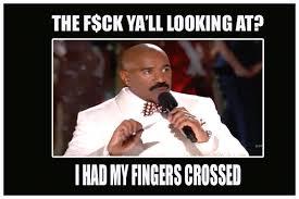 Fingers Crossed Meme - steve harvey fingers crossed funny meme desktop backgrounds