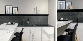 black stone look porcelain countertops florim stone kitchen