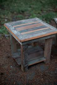 Diy Reclaimed Wood Side Table by Diy Rustic Designs For Your Home And Garden