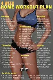 best 25 4 week workout plan ideas on pinterest daily workout