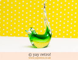 loving 1960 70s vintage glass birds and paperweights vintage