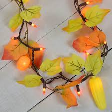 maple leaf garland with lights maple leaf corn pumpkin party string lights garland style