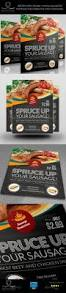 sausage restaurant flyer template by owpictures graphicriver