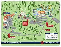 Pa Road Map Map Of Camelback Resort In The Poconos Camelback Resort
