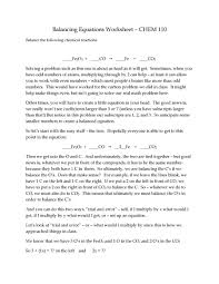 Sample Resume For Supply Chain Management by Why Do You Balance Equations Jennarocca