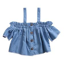 baby blue blouse baby casual denim blue blouse sleeve