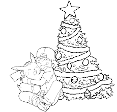 merry christmas coloring pages pokemon pikachu pokemon