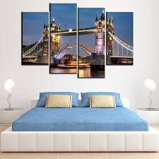 Bedroom Wall Canvases Online Get Cheap Bedroom Pictures London Aliexpress Com Alibaba