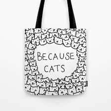 because cats tote bag by kittenrain society6