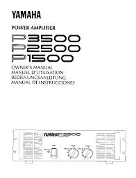 yamaha manuals yamaha p1500 user manual