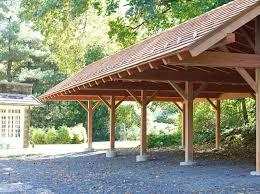 prefab detached garage timber frame carport timber frame carport