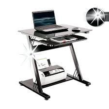 bureau informatique verre trempé bureau informatique verre bureau ordinateur en verre trempe noir