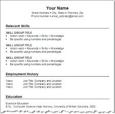 format of resume current resume formats resume templates free resume