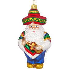 mexican santa glass ornament santa collectibles santa claus