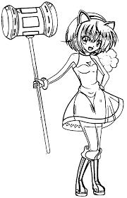 amy rose manga coloring page wecoloringpage