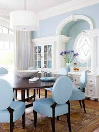 Light Blue Dining Room Chairs Style Setting Architectural Features Wood Blue Dining