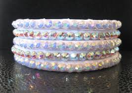 white swarovski crystal bracelet images White swarovski ballroom bangles with your choice of ab clear or jpg