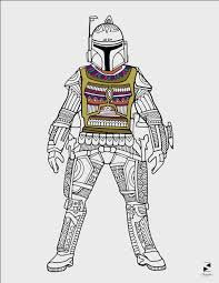 star wars coloring pages boba fett printable coloring