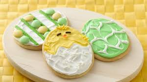 decorated cookies easter egg cookies recipe bettycrocker