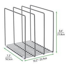 kitchen cupboard storage pans mdesign kitchen pan rack pot lid rack for storing bakeware