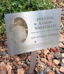outdoor memorial plaques 6x8 stainless steel dedication memorial lawn or garden sign