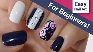 diy easy flowers nail art tutorial u2013 for beginners youtube