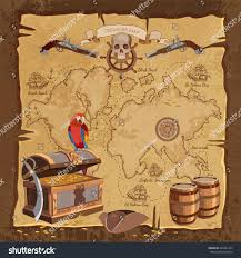Blank Pirate Treasure Map by Old Pirate Treasure Map Treasure Chest Stock Vector 626221247