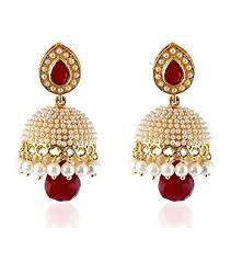 fancy jhumka earrings buy shining pearl traditional jewellery stylish fancy