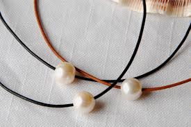 freshwater pearl necklace choker images Crocheted gemstone necklaces leather and pearl knotted necklaces JPG