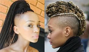 half shaved head hairstyles for black women blackhairlab com