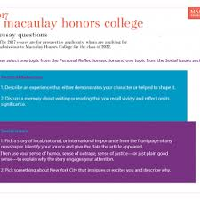 How To Create A Resume For College Applications Applying To Macaulay Macaulay Honors College