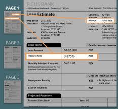 Estimate Mortgage Loan Amount by Tour The Loan Estimate Form