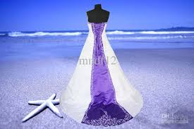discount white purple satin train embroidery prom evening wedding