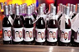 wine bottle favors 13 wine labels to wow from party favors to executive business