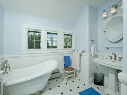 Bathroom Delta Cassidy Faucet High by Cottage Full Bathroom With Pedestal Sink U0026 Wainscoting In York Me
