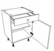 meuble cuisine largeur 50 cm meuble bas de cuisine équipé d 1 porte et d 1 tiroir en largeur 40