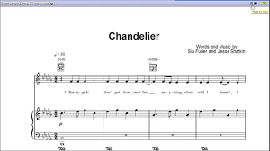 Sia Chandelier Mp3 Free Download Chandelier By Sia Piano Sheet Music Teaser Youtube