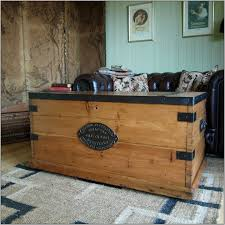 rustic wood chest coffee table home decor thippo