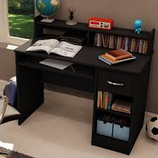 Small Wood Computer Desk South Shore Axess Small Wood Computer Desk With Hutch In
