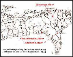 Hernando De Soto Route Map by Before Atlanta There Was A Province Named Chattahoochee People