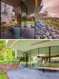 Small Modern House This Circular House Is Built Into The Hillside Contemporist